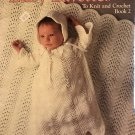 Leisure Arts Baby Layettes to Knit and Crochet Book 2 Leaflet 460