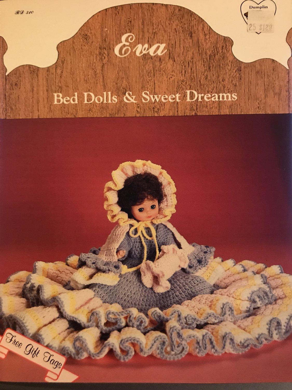 "EVA Bed doll gown Crochet Pattern Dumplin Design BD540 13"" or 14"" Doll"
