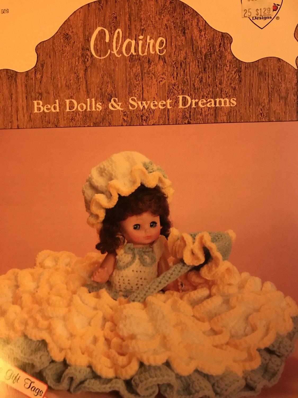 "Claire doll gown Crochet Pattern Dumplin Design BD503 13"" or 14"" Doll"