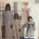 McCall's 7430 Sewing Pattern Girls Robe Pajama Top Pants Nightgown Nightshirt Size 7 8 10