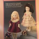 "Tea Time Dresses Crochet Pattern Fibre Craft 214 for 11 1/2"" doll"