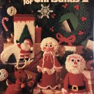 Crochet for Christmas 2 Leisure Arts Pattern Booklet 172 stocking, Wreath, soldier, Santa