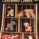 Crocheted Critters Leisure Arts 109 toy animals, pig, kitten, lamb, donkey, elephant, horse