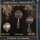 Merry Macrame Christmas Ornaments most knotted on Satin Christmas Balls Plaid Book 7316