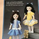 """Party Time Dresses Crochet Pattern Fibre Craft 215 for 11 1/2"""" doll"""