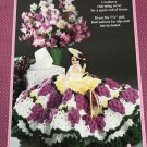 """Grapes of Bath Gown Crochet Pattern Fibre Craft 250 for 7 1/2"""" doll"""