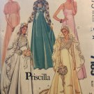 """McCall's 7185 Pricilla Back zippered bridal or bridesmaid gown Sewing Pattern size 10 bust 32 1/2"""""""