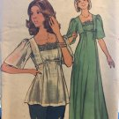 Butterick 4749 Misses' Vintage Evening Prom Dress & Top. Sewing Pattern size 14