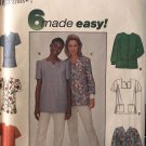Simplicity 8351 Misses' Scrubs Top Medical Top Sewing Pattern size 20 -24