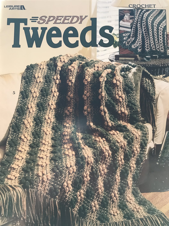 Crochet Speedy Tweeds Afghans Patterns Leisure Arts 3280 Designed by Anne Halliday 8 Designs