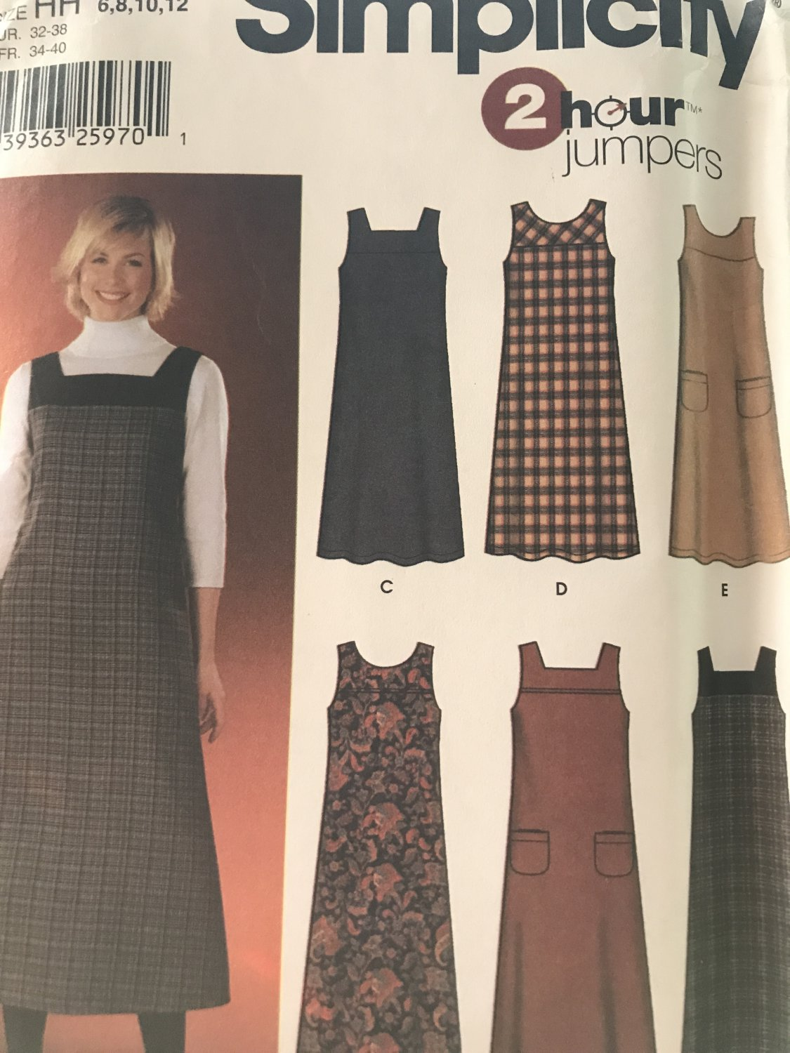 Simplicity 5903 Pullover Jumper in two lengths sewing pattern size 6-12