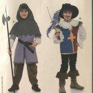 Burda 9659 Children's Renaissance Costume Musketeer & Page sewing pattern sizes 4 -10
