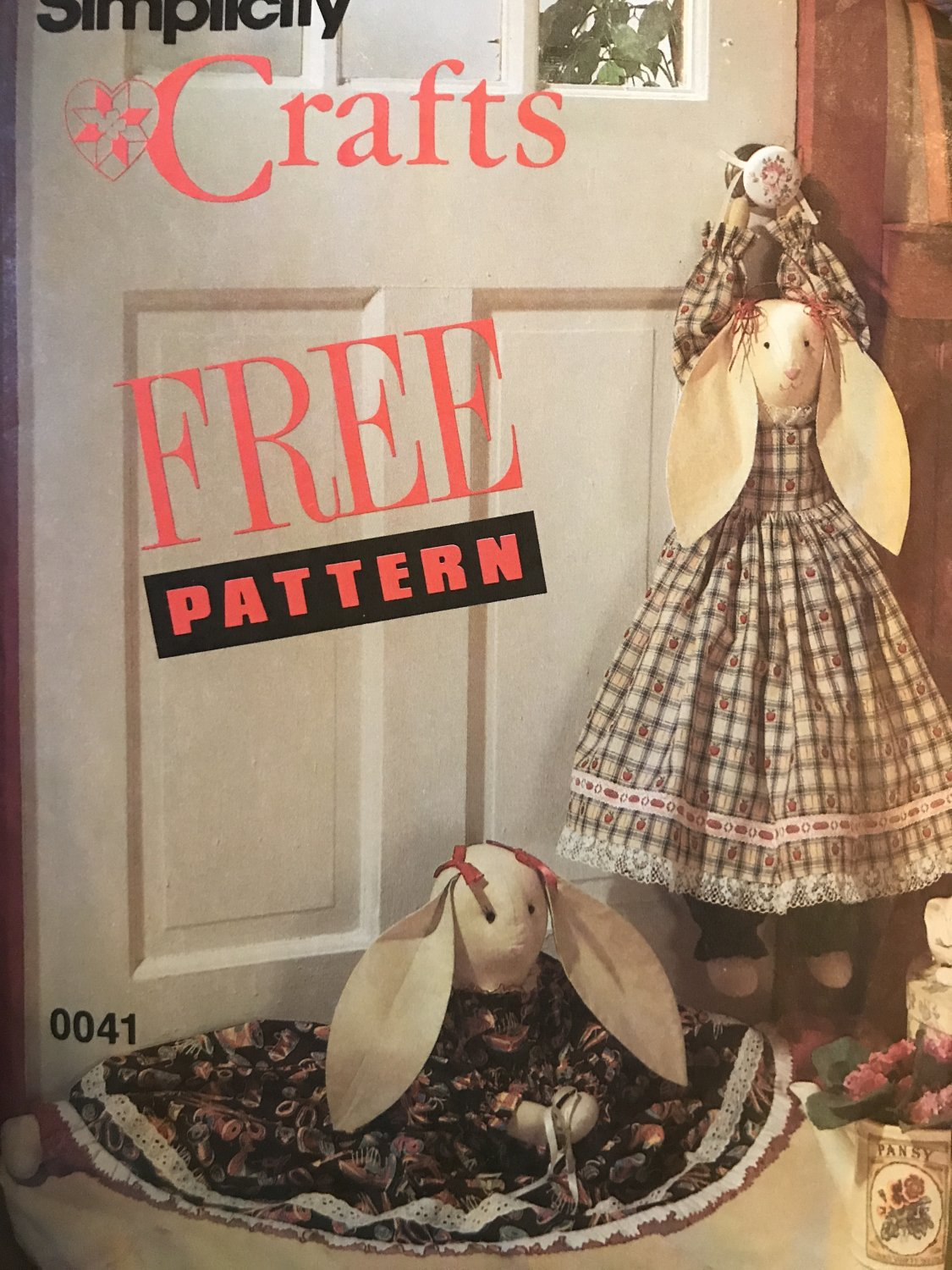 Simplicity Sewing Pattern 0041 Bunny Draftstopper for doors up to 34 inches Wide