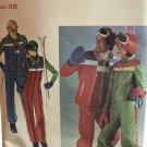 "Butterick 5111 Men's Ski Jacket, Sleeveless Jacket Vest & Jumpsuit Sewing Pattern Chest 38"""