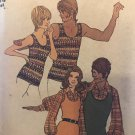 Vintage 1972 Simplicity Sewing Pattern 9892. Men's Shirt and Pullover Top Size Medium 38-40 chest
