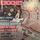 Magic Crochet Magazine 65 April 1990 doilies peacock bedspread, summer tops and more