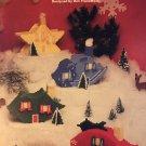 Plastic Canvas Christmas Ornament Houses Needlecraft Ala Mode Leaflet 147 pattern
