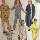 McCalls 4604  Children's Boy's and Girl's Robe and Sleepwear Sewing Pattern