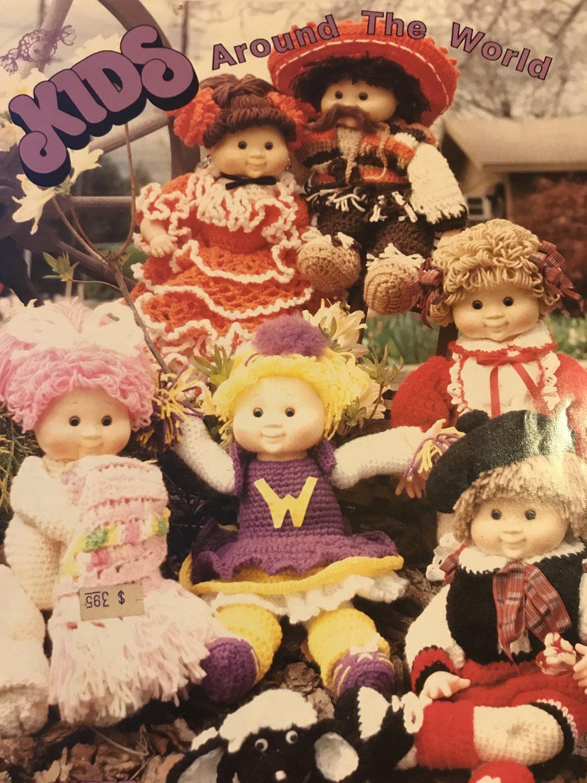 Kids Around The World Sweet Love Kids Soft Sculpture Dolls & Pets to Crochet Pattern SK104