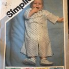 Simplicity 5955 Babies Kimono in two lengths, Booties Size Newborn Sewing Pattern