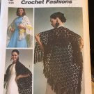 Crochet Cape Pattern Simplicity 5660 Vintage Crochet Fashions