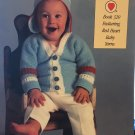 Red Heart book 320 Baby Talk knitting and crochet pattern for layettes, bunting, afghans, booties