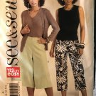 Butterick 4962 See & Sew Misses Capri Pants or Gauchos Sewing Pattern size 6 - 12