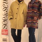 Butterick 4331 See & Sew Misses Fleece Jacket Sewing Pattern size 12 14 16