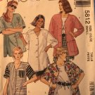 McCall's 5812 Misses' Oversized Shirt sewing pattern size 10 12