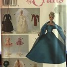 Simplicity 8481  Clothes for 11.5-inch Fashion Doll  9 Outfits Evening. Bridal Gowns