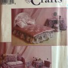 Simplicity 8158  Fashion Doll  Furniture & Dress Bed headboard cover, chair covers sewing pattern