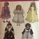"""Simplicity 3520 Doll Clothes for 18"""" Dolls Wedding Dress Pattern Dresses Sewing Pattern"""