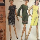 Vintage 1960s Dress Pattern McCall's 9199 A Line Bell Sleeves MIni Dress Mod Size 12 Bust 34 1968