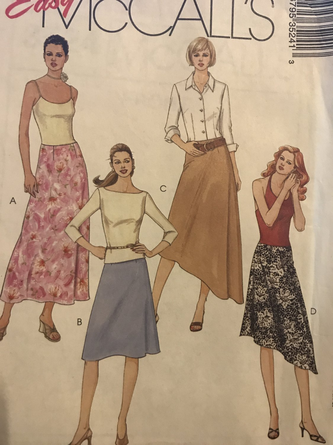 McCall's 3524 Misses' Skirt in 4 lengths Sewing Pattern Size 4 6 10 12