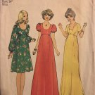 """Simplicity 7245 70's Maxi Baby Doll Dress Size 12 bust 34"""" Sewing Pattern Uncut"""
