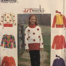 Simplicity 8306 Girls Top and Scarf Sewing Pattern  Size 12 14