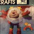 """Vintage McCall's Crafts Pattern 9231  742 for a 13"""" tall Rainbow Brite TWINK Doll Plushie"""