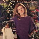 PONCHOS to Knit and Crochet American School of Needlework PATTERN BOOK 1306