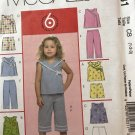 McCalls 5031 Toddlers' Top Shorts Capris Sewing Pattern Size 1 2 3