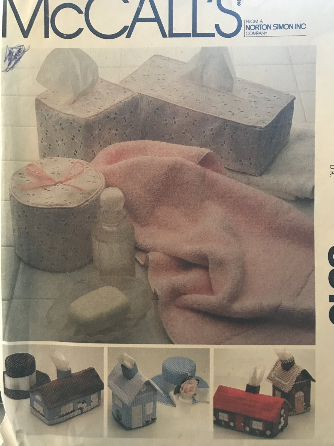 McCall's 8316 Tissue box & toilet tissue covers House, Hat designs Sewing Pattern