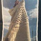 Fisherman Afghans Irish Aran designs Boye #222 from the 1970's