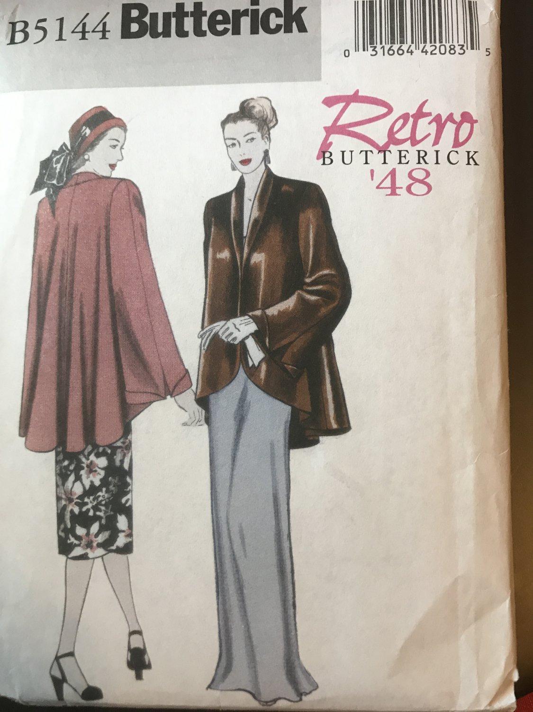 BUTTERICK PATTERNS 5144 B5144 Misses' Jacket, Size F5 (16-18-20-22-24) Sewing Pattern