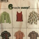 Simplicity 8013 Sewing Pattern Misses' Top and Shirt, Size 12, 14, 16 Sewing Pattern