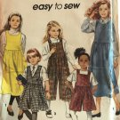 Simplicity 7953 Girls' Jumpers in two lengths w/ bodice + skirt variations Sewing Pattern Size 7-20