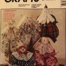 McCall's 5636 717 Block Dolls Package bear, rabbit, clown, girl or Santa doll Sewing Pattern