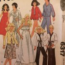 "McCall's 6317 Doll's Wardrobe 11 1/2"" Fashion Dolls Sewing Pattern"