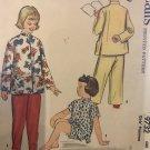 1950s McCalls 9732 Pattern Girls Pajamas with Mandarin Collar Sz 8 Chest 26 Sewing Pattern