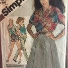 Simplicity 9904 Misses'/Miss Petite Shirt, Tank Top, Skirt, Pants or Shorts Sewing Pattern Size 10