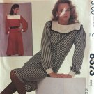 McCall's 8373 Vintage Sewing Pattern Misses' Dress or Top and Skirt Size 10 - 14