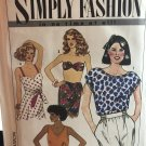Simplicity 9627 Misses Top Bandeau and reversible wrap top Sewing Pattern Size 8 - 14